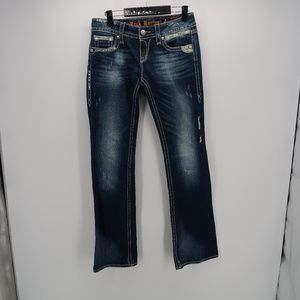 Rock Revival Straight Leg Distressed Denim Jeans